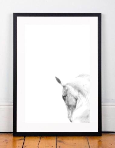 Framed horse on floor