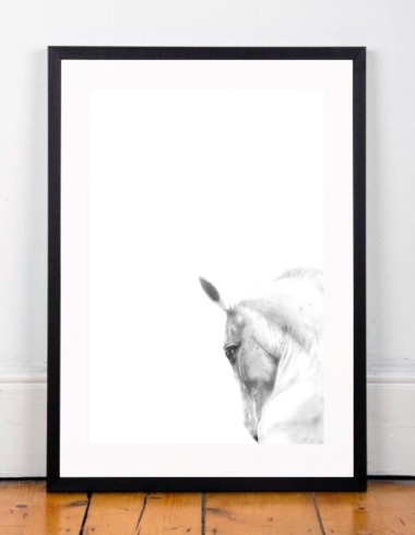 Framed horse on floor